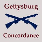 Gettysburg Concordance Image